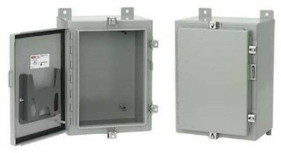 "NEW HOFFMAN A30H24CLP Enclosure 30""x 24""x 10"", Type 4, Gray, Metallic, ANSI 61"