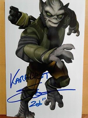 Steve Blum  Authentic Hand Signed 4X6 Photo - STAR WARS REBELS - KARABAST