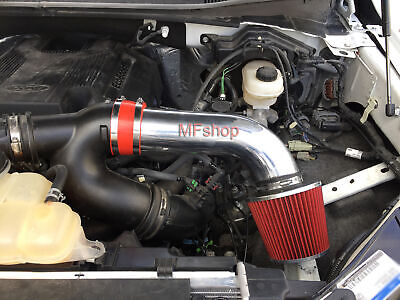 Red For 2017-2018 Ford F-150 3.5L V6 Ecoboost Air Intake System Kit + Filter