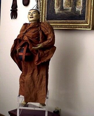 Puppet Marionette - Large Fine Quality Thai Buddhist Monk with Begging Bowl