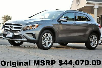 2016 Mercedes-Benz A-Class GLA250 4Matic 2016 Panorama Roof Multimedia PKG Blind Spot Assist Gray Auto AWD Like New