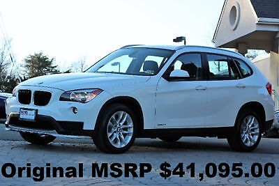 2015 BMW X1 xDrive 28i Ultimate PKG 2015 Panorama Roof Navigation Rear View Camera White Auto AWD Like New Perfect