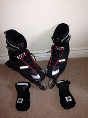 Size 8 Adults Rollerblades and Wrist Supports