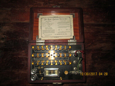 1894 The Acme Portable Testing Set Electrical Lab of Queen & Co.