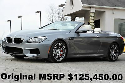 2015 BMW M6 Convertible 2015 Space Gray Metallic on Opal White Full Merino Leather M DCT Like New Auto