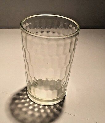 Vintage Snuff Glass Jar/drinking Cup Honeycomb Pattern Free Shipping