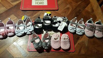 Bundle baby girls first shoes 0-3 3-6 6-9 months BNWTS