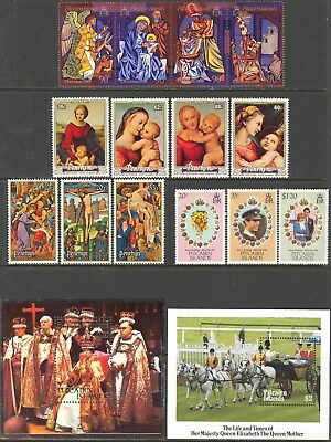 Pitcairn Is. Mini-Collection of 1 Strip, 1 S.S., and 32 Different Unused Stamps