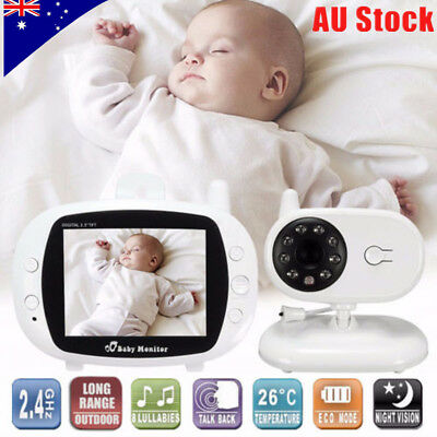 2.4'' LCD Wireless Baby Monitor Video Security Camera 2 Way Talk Night Vision GT