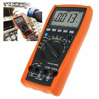 Digital Multimeter Tester Voltmeter Thermometer Resistance Capacitance Frequency