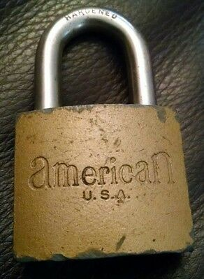 VINTAGE ANTIQUE AMERICAN U.S.A. Padlock Locks WITHOUT KEY No KEY