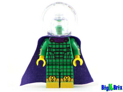Custom Designed Minifigure Mysterio with Clear Helmet Printed On LEGO Parts