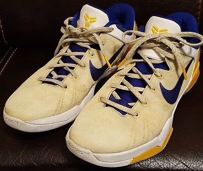 finest selection 7a378 f4dd7 Nike Zoom Kobe VII 7 System Lakers Home 488371 101 Size 10.5 Mens KB 24