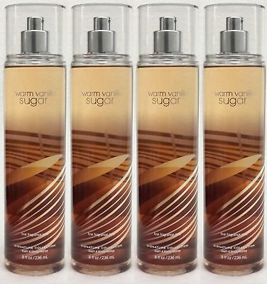 4 Bath & Body Works WARM VANILLA SUGAR Fine Fragrance Mist Spray