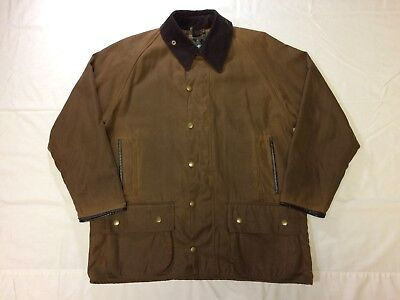 Barbour Mens Waxed Cotton Classic Beaufort Jacket Field Coat - Brown - Large