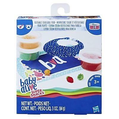 New Hasbro Baby Alive Super Snacks: Reusable Solid Doll Food C2727