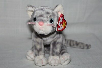 TY Beanie Baby - SILVER the Cat (5.5 inch) - MWMTs Stuffed Animal Toy