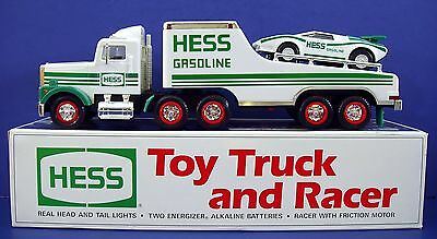 New 1991 Hess Toy Truck Racer Race Car Racing Head Light Friction Motor Gasoline