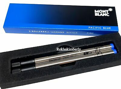 Montblanc 105167 Rollerball Pen Refills Pacific Blue  LeGrand 2x1 (F)