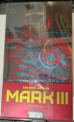 Hot Toys Iron Man Mark 3 DIECAST mk 3 no Sideshow(Marvel Avengers Comic) Ironman