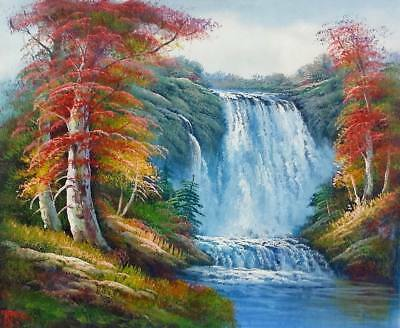 6da74bd94 Waterfall Landscape - #3, 20x24,100% hand Painted Oil Painting on Canvas