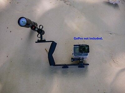 Underwater LED video light and single handle tray for GoPro, SJCAM, Olympus TG5