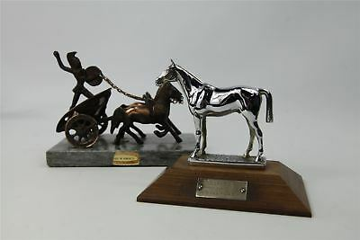 Pair of Vintage statues (Chariots and Horses)