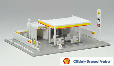 SHELL SERVICE GAS STATION Assembled RTR 15x13cm N 1/150 scale by Tomix 4072