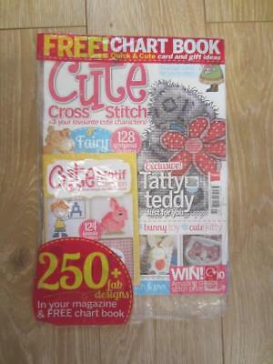 CUTE CROSS STITCH Magazine SUMMER 2014 With Free Gift CUTE BOOKLET RARE NEW