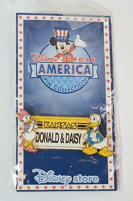Disney Store JAPAN Pin Collection LE 2000 Across America Kansas x Donald Daisy