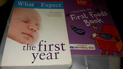 What to Expect the First Year .& first foods ..Baby books