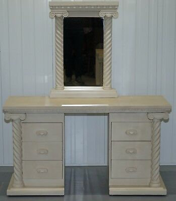 French Country Shabby Chic Style Dressing Table With Mirror Part Of A Suite