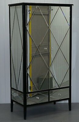 Large Grande Rrp £1230 Venetian Glass Cleopatra Mirror Wardrobe Part Of A Suite