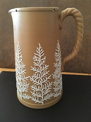 Antique Dudson Stoneware Jug - Fern Decoration