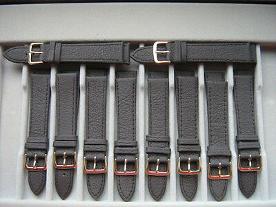 WHOLESALE LOTS of 10x18mm BROWN Leather WATCH STRAPS.