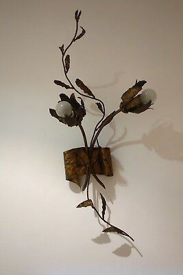 XL Aplique lámpara vintage flores hojas 1960s leaves flowers fixture wall lamp