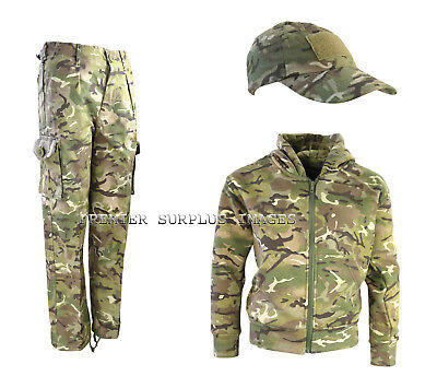 Childrens Kids Army MTP Camo Trousers Hoodie Hoody and Cap