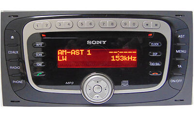 FORD SONY MP3 RADIO UNLOCK CODE - V OR M SERIAL - ONLY 99p