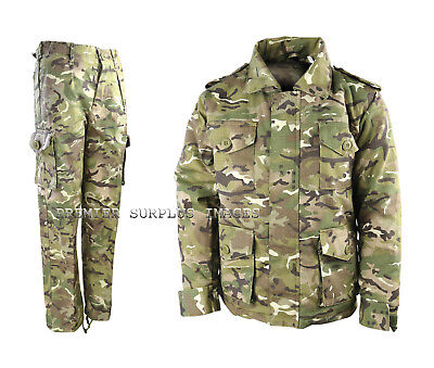 Childrens Kids Army MTP Camo Padded Jacket and Trousers