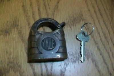 Antique Vintage Yale & Towne Brass Padlock & Key.