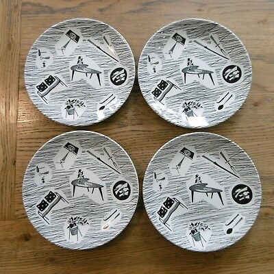 "Four 8"" Homemaker plates by Ridgway"