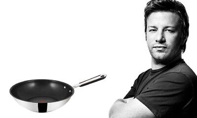 Jamie Oliver by Tefal E76319 WOK-Pfanne °28cm Stainless Steel mit THERMO-SPOT
