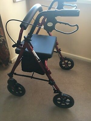 MOBILITY Rollator folding Walking Frame 4 Wheeled walker with seat ...