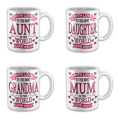 With Love To The Best Relative In The World Novelty Gift Mug Variation