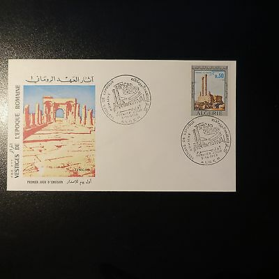 ALGERIA N°491 ON LETTER COVER 1st DAY FDC