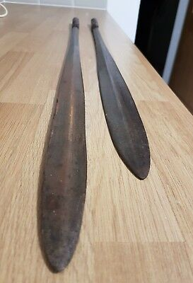 Antique ZULU Assegai African Spears no reserve.