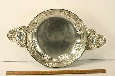 Antique 19thc French Sterling Silver Two- Handled Decorated Signed Bowl No Res.