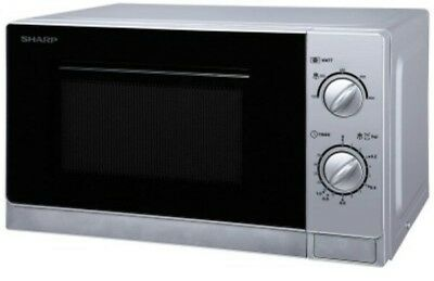 15'aq    Sharp R-20DSM 20L Capacity Microwave Oven with Grill,800W Power- SILVER