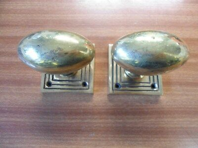 A Pair Of Old Brass Door Knobs