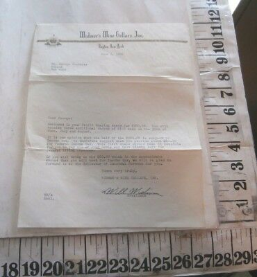 1951 Widner's Wine Cellars Naples Ny Letter Signed By Will Widmer